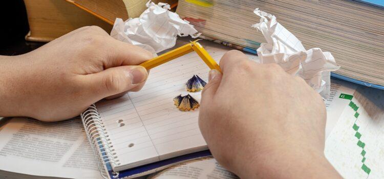 zerbrochener Stift